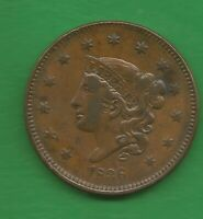 1836 MATRON HEAD LARGE CENT   184 YEARS OLD
