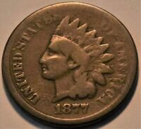 1877 INDIAN HEAD CENT ORIGINAL LOOKING SCARCE KEY DATE PENNY