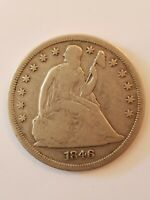 1846 $1 SEATED LIBERTY DOLLAR, LOW MINTAGE