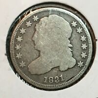 1831   GOOD   CAPPED BUST DIME   COIN