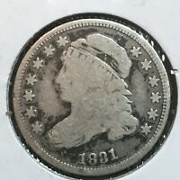 1831  VG  CAPPED BUST DIME   COIN