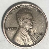 1X 1916 D LINCOLN WHEAT CENT CENT EXTRA FINE  CONDITION