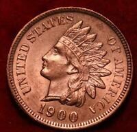 UNCIRCULATED RED 1900 PHILADELPHIA MINT INDIAN HEAD CENT