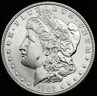 1903-P MORGAN SILVER DOLLAR.  PROOF-LIKE FIELDS.  HIGH GRADE.   INV.A