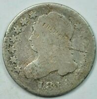 1814 LARGE DATE 10C CAPPED BUST DIME GOOD DETAILS G