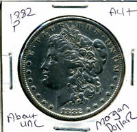 1882 P  AU MORGAN DOLLAR 100 CENT  ABOUT UNCIRCULATED 90 SILVER US $1 COIN 936