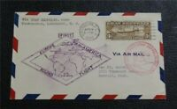 NYSTAMPS US AIR MAIL STAMP  C14 USED $900 FIRST DAY COVER