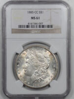 1885-CC MORGAN DOLLAR - NGC MINT STATE 61