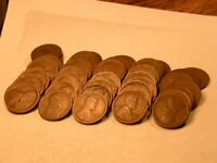 FULL 50 PIECE ROLL 1916-D AVE CIRC LINCOLN CENTS MOSTLY GOOD  2