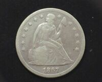 HS&C: 1867 LIBERTY SEATED DOLLAR EXTRA FINE  MOTTO- US COIN