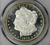 1879-S MORGAN PCGS MINT STATE 65PL  CAMEO PROOF LIKE SILVER DOLLAR BETTER THAN GRADE GEM