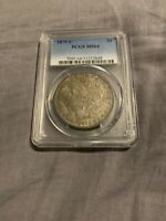 LY TONED ORIGINAL 1879 S MORGAN SILVER DOLLAR PCGS MINT STATE 64 MINT STATE 64 AWESOME COIN