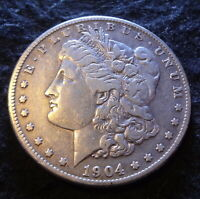 1904-S MORGAN SILVER DOLLAR - CHOICE VF DETAILS FROM THE SAN FRANCISCO MINT