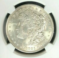 1921-D MORGAN SILVER DOLLARNGC MINT STATE 62 BEAUTIFUL COIN REF03-001