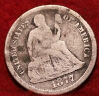 1877 CC CARSON CITY MINT SILVER SEATED LIBERTY DIME