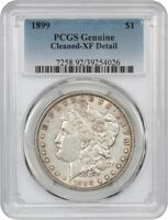 1899 $1 PCGS EXTRA FINE  DETAILS CLEANED - MORGAN SILVER DOLLAR