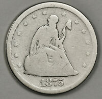 1875 S 20 CENT PIECE.  CIRCULATED.  151594