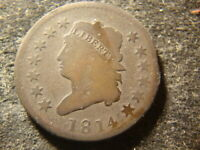 1814  FULL DATE VG DETAILS CLASSIC HEAD LARGE CENT HZX
