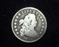HS&C: 1805 DRAPED BUST DIME VG 4 BERRIES - US COIN