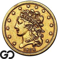 1838 HALF EAGLE $5 GOLD CLASSIC HEAD HIGHLY DESIRED COLLECTO