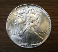 1986 AMERICAN SILVER EAGLE  FIRST YEAR OF ISSUE  OUT OF THE ROLL