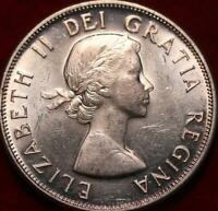 UNCIRCULATED 1958 CANADA SILVER 50 CENTS FOREIGN COIN