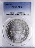 1904 O MORGAN DOLLAR PCGS MINT STATE 64 SEMI-PROOFLIKE SURFACES