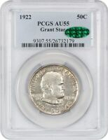 1922 GRANT WITH STAR 50C PCGS/CAC AU55 - FROSTY - SILVER CLASSIC COMMEMORATIVE