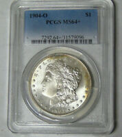 PCGS MINT STATE 64 PLUS 1904-O MORGAN SILVER DOLLAR NEW ORLEANS MINT GEM UNCIRCULATED