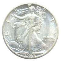 1945 D WALKING LIBERTY HALF DOLLAR CHOICE ALMOST UNCIRCULATED AU SILVER COIN