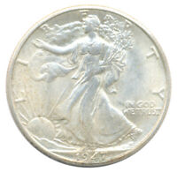 1947 D WALKING LIBERTY HALF DOLLAR CHOICE ALMOST UNCIRCULATED AU SILVER COIN