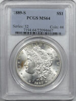 1889-S MORGAN DOLLAR - PCGS MINT STATE 64