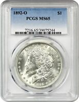 1892-O $1 PCGS MINT STATE 65 - MORGAN SILVER DOLLAR - BETTER DATE