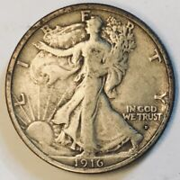 1916 D OBV WALKING LIBERTY HALF DOLLAR   NICE HIGH GRADE