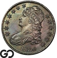 1830 CAPPED BUST HALF DOLLAR NICE COLOR CHOICE UNCIRCULATED