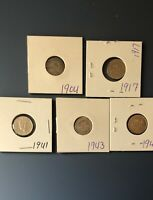 CANADIAN SILVER DIME LOT NFLD TEN CENT COINS 1904 17 41 43 4
