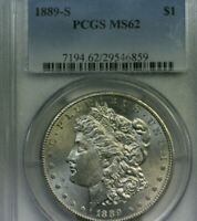 1889S MORGAN DOLLAR   PCGS MINT STATE 62