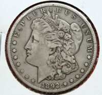 1892CC MORGAN DOLLAR