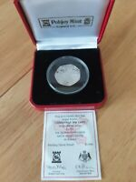 SILVER CHRISTMAS 50P STERLING SILVER PROOF ISLE OF MAN POBJO