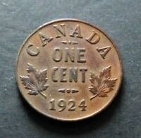 1924 CANADA 1 CENT COIN FINE CIRCULATED CONDITION LOT17