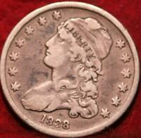 1838 PHILADELPHIA MINT SILVER CAPPED BUST QUARTER
