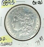 1889-S MORGAN SILVER DOLLAR  CH/AU  CLEANED  COIN REF D/D