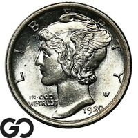 1920 S MERCURY DIME SUPER STRONG BANDS COULD BE FSB GEM BU