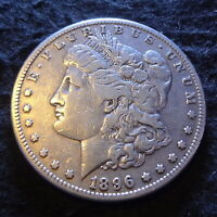 1896-S MORGAN SILVER DOLLAR - SOLID VF DETAILS FROM THE SAN FRANCISCO MINT