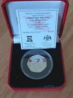 SILVER PROOF CHRISTMAS 50P COIN 2006 ISLE OF MAN