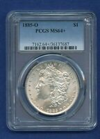 1885 O PCGS MINT STATE 64 MORGAN SILVER DOLLAR $1 US MINT 1885-O MINT STATE 64 PLUS PQ COIN