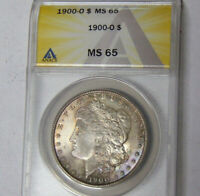 ANACS MINT STATE 65 1900-O MORGAN SILVER DOLLAR GEM BU UNCIRCULATED NEW ORLEANS MINT