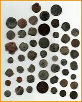 BIG LOT OF 51 ANCIENT COINS OF DIFFERENT EPOCAS MEDIEVAL ROM