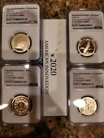 2020-S 4 COIN AMERICAN INNOVATION PROOF SET NGC PF70 ULTRA CAMEO W/COA, OGP