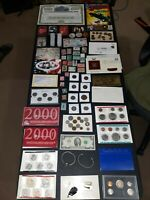 COIN LOT BIG COLLECTION MINT SETS PROOF $2 VINTAGE STAMPS TR
